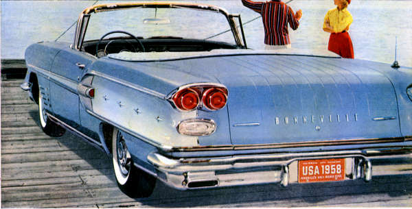 '58 Bonneville convertible, blue