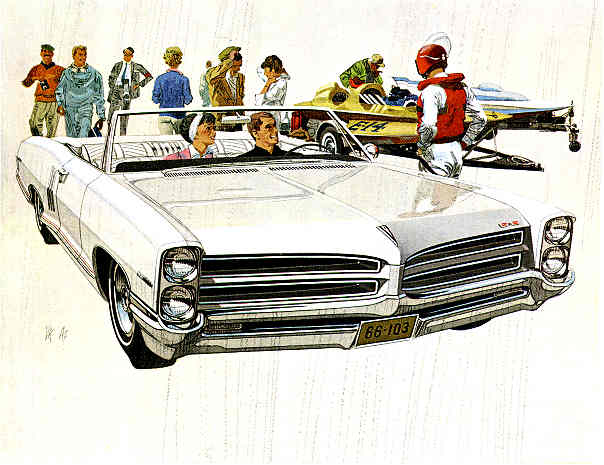 1966 Pontiac 2+2 convertible in Cameo Ivory